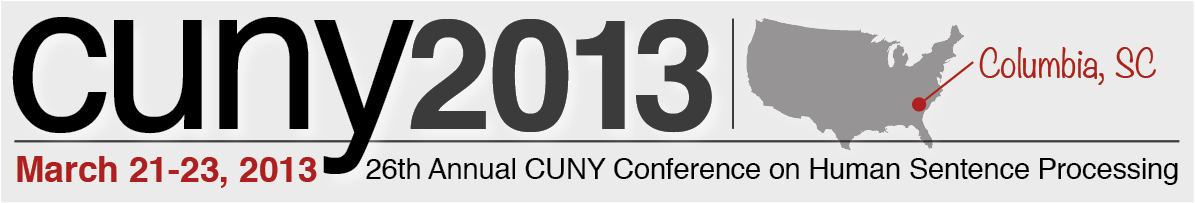 CUNY 2013 sentence processing conference in columbia sc