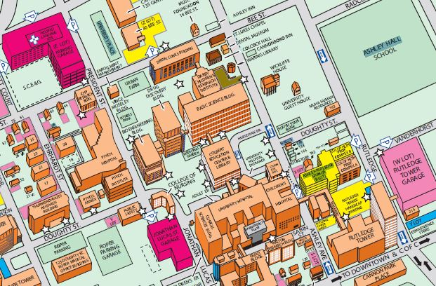 Musc Campus Map MUSC Map zoomed. | SCAND | University of South Carolina Musc Campus Map